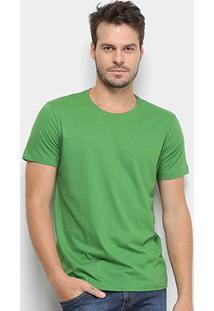 Camiseta Forum Lisa Básica Masculina - Masculino-Verde Claro