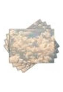 Jogo Americano - Nuvens Com 4 Peças - 791Jo