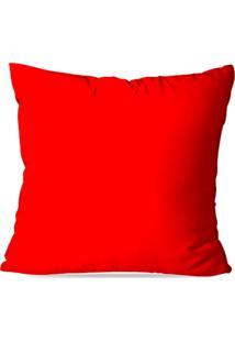 Capa De Almofada Lisa Vermelha 45X45Cm - Kanui