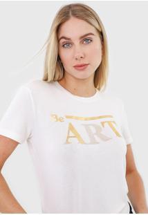 Camiseta Morena Rosa Be Art. Off-White - Kanui