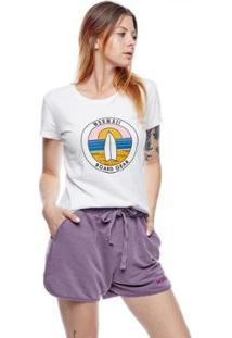 Camiseta Baby Look Sunrise Mormaii Feminina - Feminino-Branco