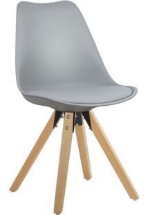 Cadeira Cinza Claro Charles Eames Modern Soft Em Pp