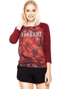 Blusa Element Twisted Vinho
