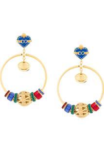 Dolce & Gabbana Par De Brincos 'Sacred Heart' - Estampado