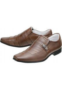 Sapato Social Mafisa Y - Masculino-Marrom Claro