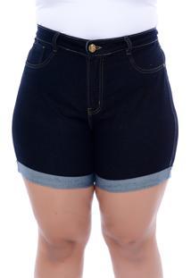 Shorts Jeans Xtra Charmy Modelador Azul