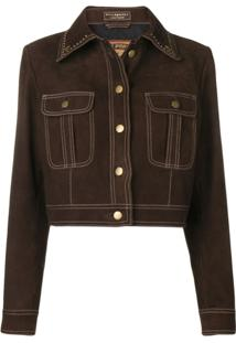 Philosophy Di Lorenzo Serafini Studded Collar Jacket - Marrom