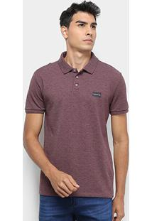 Camisa Polo Calvin Klein Lisa Masculina - Masculino-Bordô