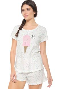 Short-Doll Cor Com Amor Sweet Off White