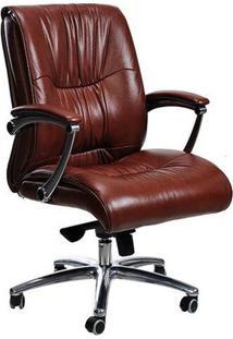 Cadeira Diretor Will Pvc/Couro Natural Marrom Etna