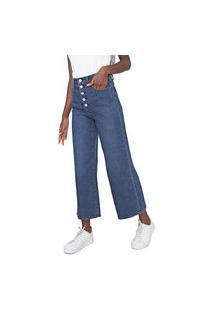 Calça Jeans Gap Pantacourt Estonada Azul