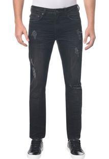Calça Jeans Five Pocktes Slim Ckj 026 Slim - Preto - 36