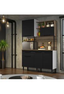 Cozinha Compacta Bali 5 Pt 1 Gv Preta