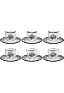 Conjunto 6 Xícaras De Chá Com Pires Coup Floresta Negra 041520 Oxford