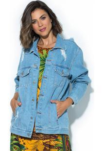 Jaqueta Oversized Refarm Jeans Azul