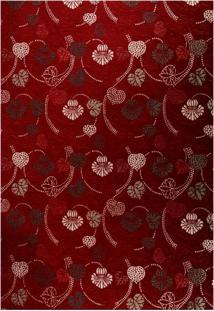 Tapete Home Belga Floral V Retangular Poliéster (100X150) Rubi