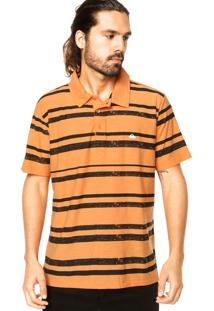 Camisa Polo Manga Curta Quiksilver Howe Laranja