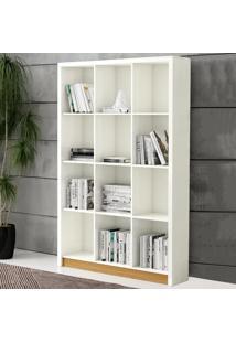 Estante Para Livros 120 Cm Tc610 Off White/Freijo - Dalla Costa