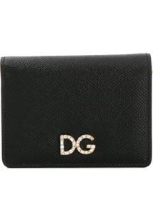 Dolce & Gabbana Carteira De Couro Com Logo - Preto
