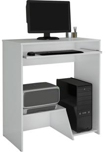 Mesa Escrivaninha Para Computador Iris Branca Jcm Movelaria