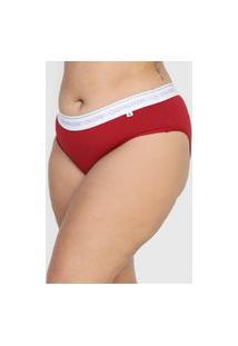 Calcinha Calvin Klein Underwear Tanga Logo Vermelha