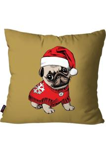Capa De Almofada Pump Up Decorativa Avulsa Dog Com Touca 45X45Cm
