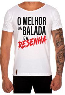 Camiseta Lucas Lunny T Shirt Gola Canoa Estampada O Melhor Da Balada Branco
