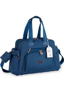Bolsa Térmica - 32X50X20Cm - Everyday - Coleção Rose Gold - Azul Petróleo - Masterbag