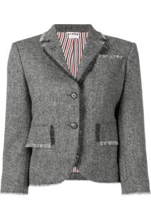 Thom Browne Blazer De Tweed - Cinza