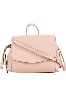 Bolsa Couro Shoestock Shoulder Bag Feminina - Feminino-Nude