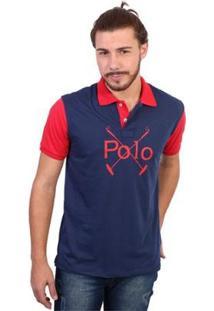 Camisa Polo England Polo Club Polos Masculina - Masculino-Marinho