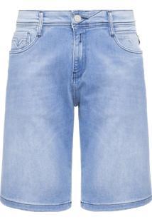 Bermuda Masculina Jeans Anbass - Azul