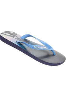 Sandália Havaianas Hype Masculina - Masculino-Azul Escuro