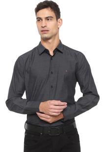 Camisa Aramis Slim Padronagem Preta