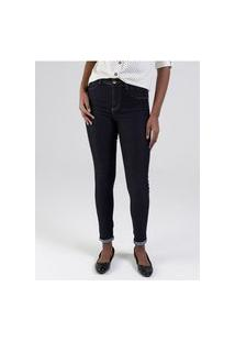 Calça Jeans Levanta Bumbum Sawary Feminina Azul