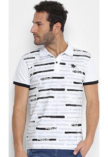 39f84c00c4 ... Camisa Polo Rg 518 Piquet Estampada - Masculino-Branco