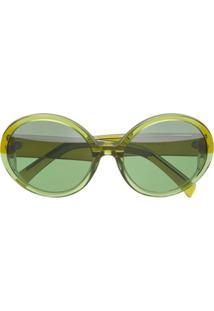 ff381bb3bd1c0 ... Marni Eyewear Óculos De Sol Redondo Oversized - Green