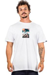 Camiseta Alfa Summer Masculina - Masculino-Branco