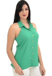 Camisa Moché Manhattan - Feminino-Verde