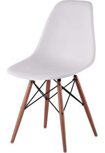 Cadeira Com Encosto E Pés Em Madeira Flórida Siena Móveis Branco