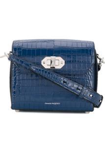 Alexander Mcqueen Bolsa Tote Box Bag 16 - Azul