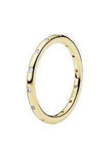 Anel Pontos De Luz Banhado Á Ouro 14K- Dourado- Tamapandora