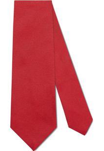 Gucci Gravata Com Bordado De Abelha - Vermelho