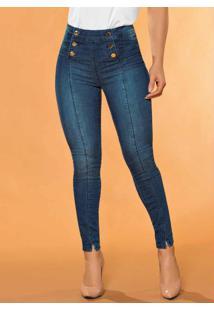 Calça Hot Pants Com Botões Sawary Jeans