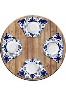 Jogo Americano Love Decor Para Mesa Redonda Wevans Ladrilhos Azuis Kit Com 4 Pã§S - Multicolorido - Dafiti