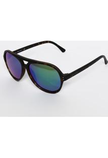 Óculos De Sol Arredondado N3600Sp 342 - Preto & Verde