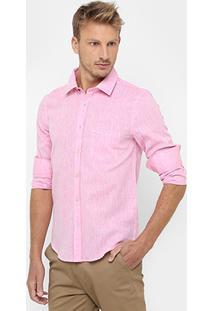 Camisa Sergio K Slim Fit Linho - Masculino