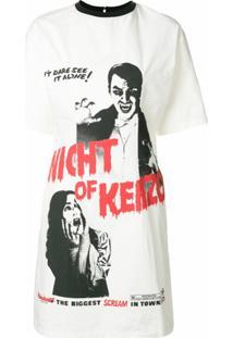 Kenzo Vestido 'Night Of Kenzo' Com Estampa Frontal - Branco