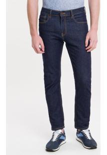 Calça Jeans Five Pockets Slim - Marinho - 36