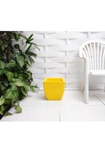 Vaso De Planta Em Polietileno Amarelo Canario - 30X30Cm